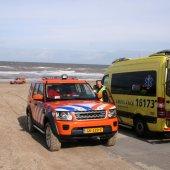 Hulpverleningsoefening afrit 29 strand Noordwijk