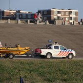 Grote oefening strand Katwijk