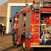 Brandweer en KNRM houden oefening in het boothuis aan de Bosweg Noordwijk
