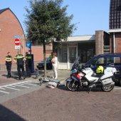 Ongeval auto met fietsster Piet Heinstraat Noordwijk