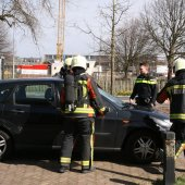 Melding voertuigbrand van de Mortelstraat Noordwijk