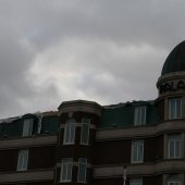 Stormoverlast Pickeplein Noordwijk