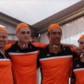 Nederlands heren estafette team behaald bronzen medaille WK Lifesaving