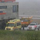Inzet Kusthulpverleningsvoertuig KNRM Katwijk
