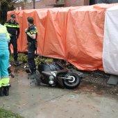 Scooterrijder gevallen door gladheid Sassenheim