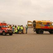Man raakt gewond bij het vliegeren op het strand van Noordwijk