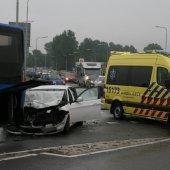 Ongeval auto / bus van Berckelweg N444 in Noordwijk